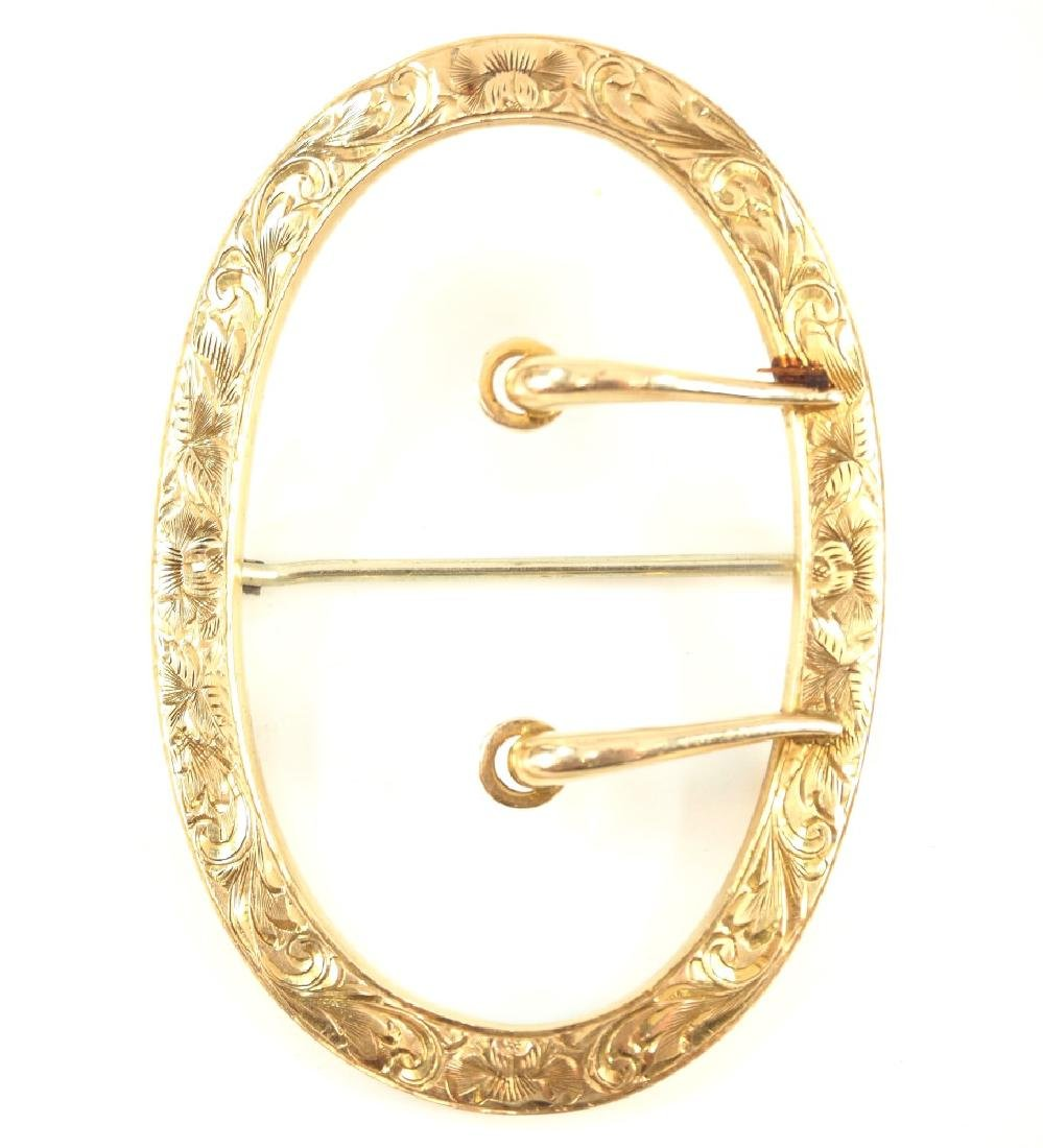 Early 20th Century Gold Belt Buckle