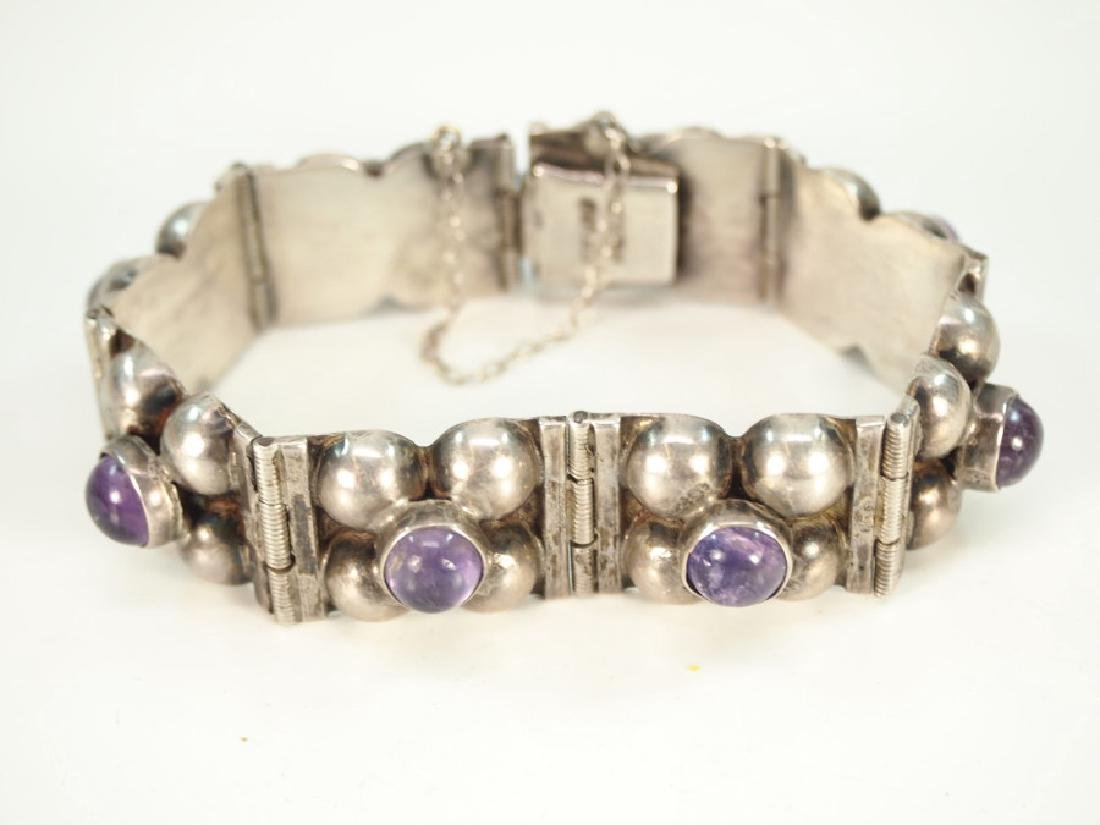 4 pcs of Mexican Silver & Amethyst jewelry - 4