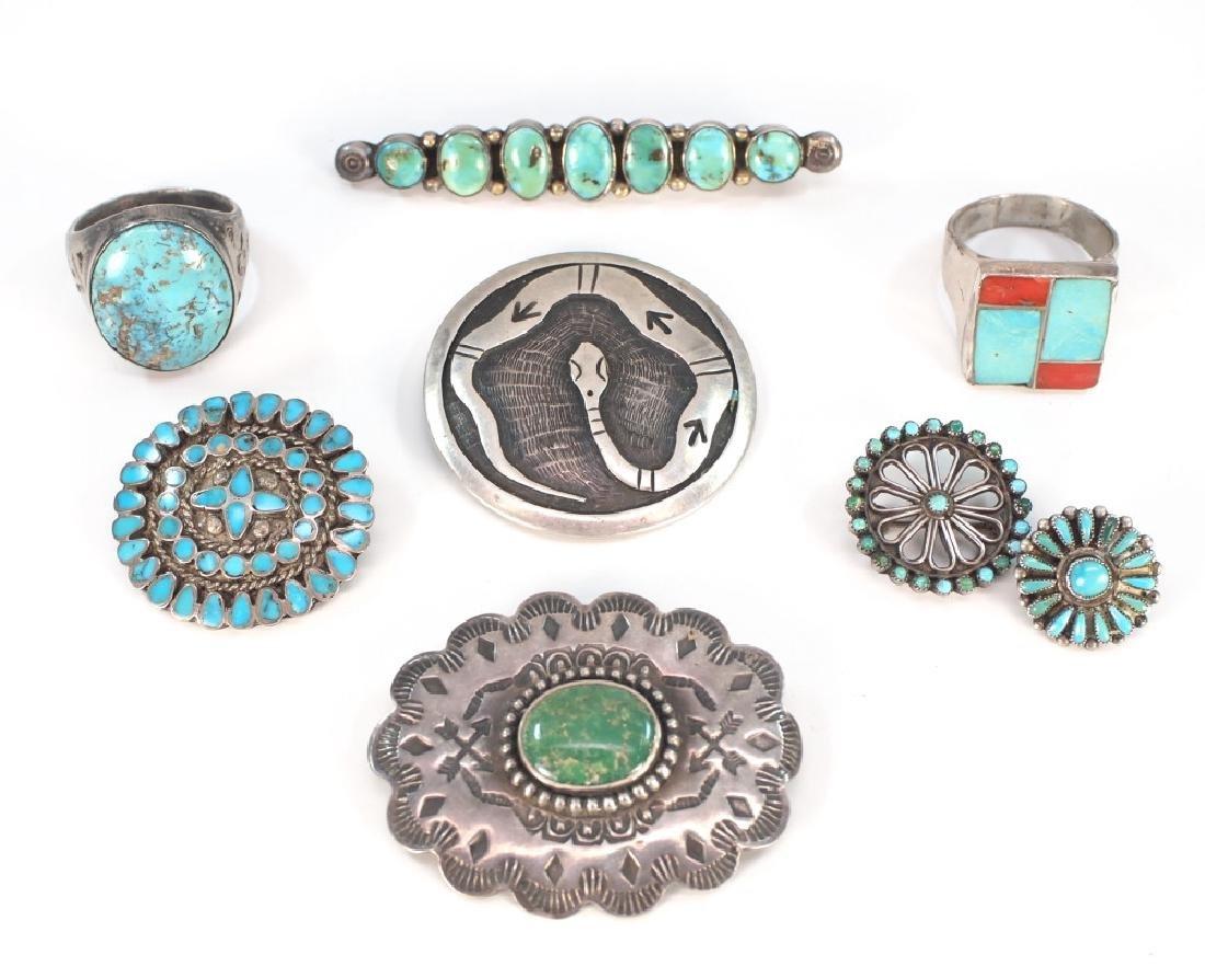 8 pcs of Navajo jewelry