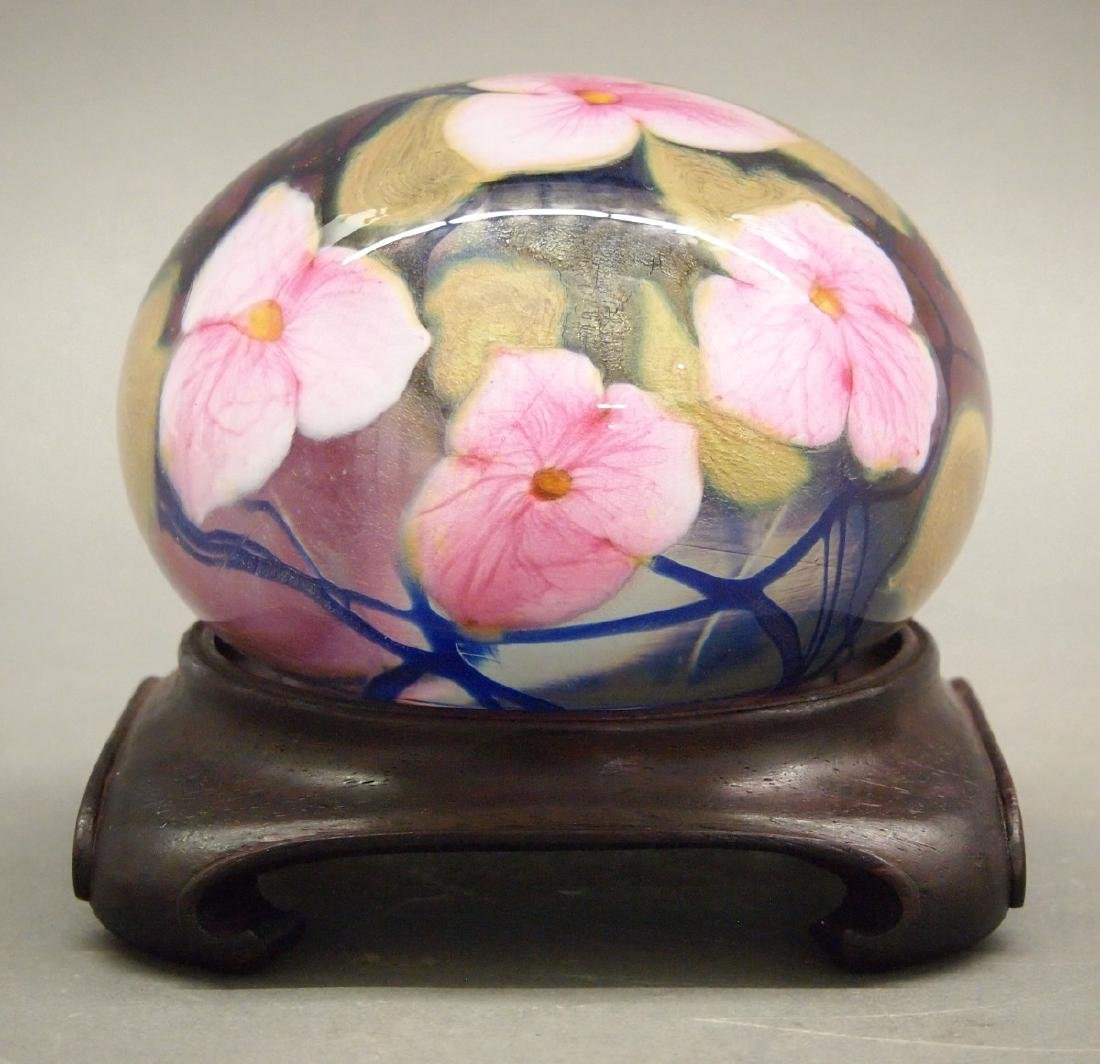Charles Lotton Studio glass paperweight