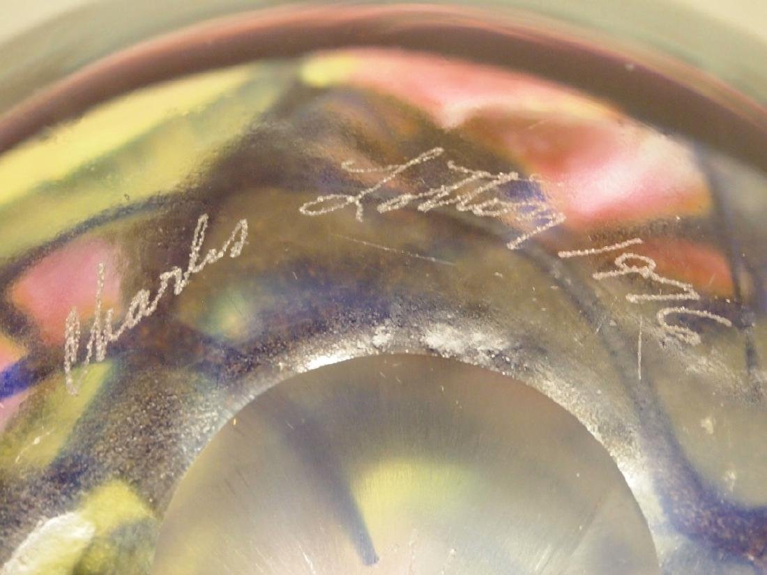 Charles Lotton Studio glass paperweight - 3