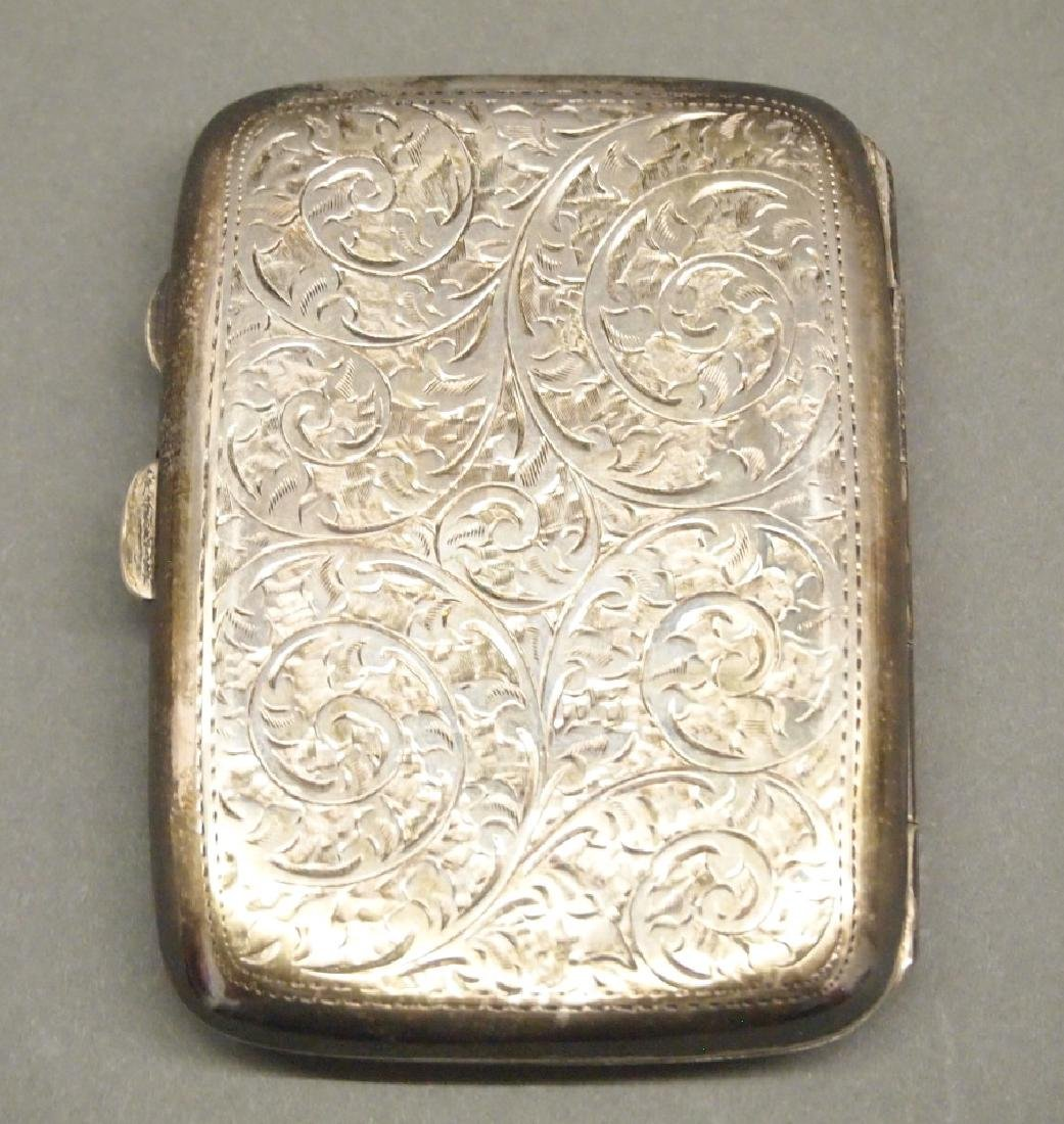 Birmingham Sterling cigarette case