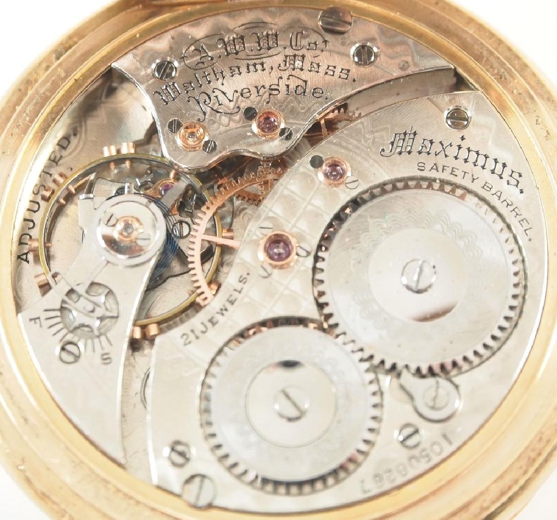 AWW Co. Riverside Maximus 14 k Gold pocket watch - 2