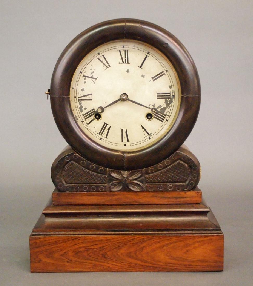 E N Welch Roman shelf clock