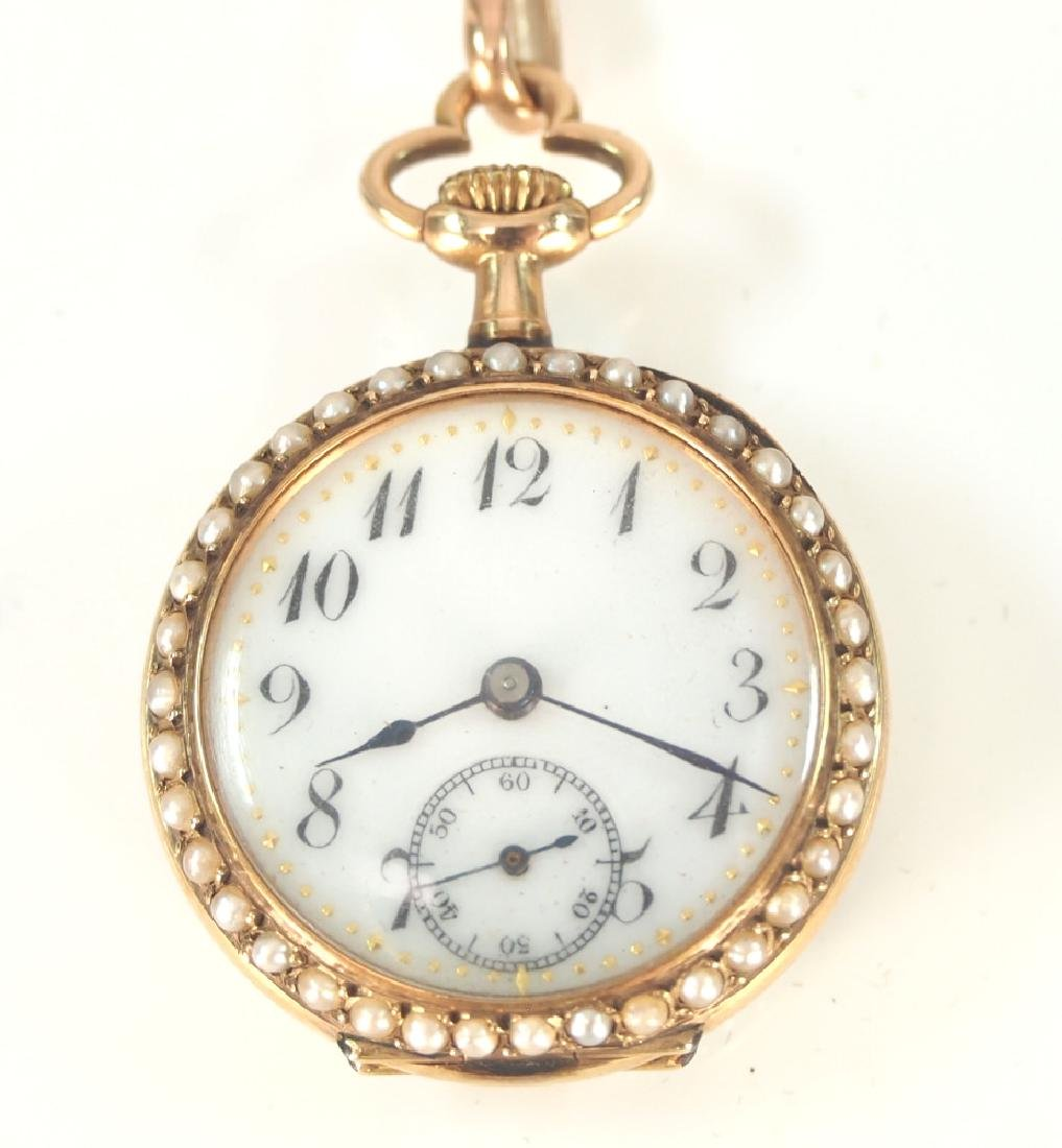 Swiss 14 k Ladies watch with Pearls