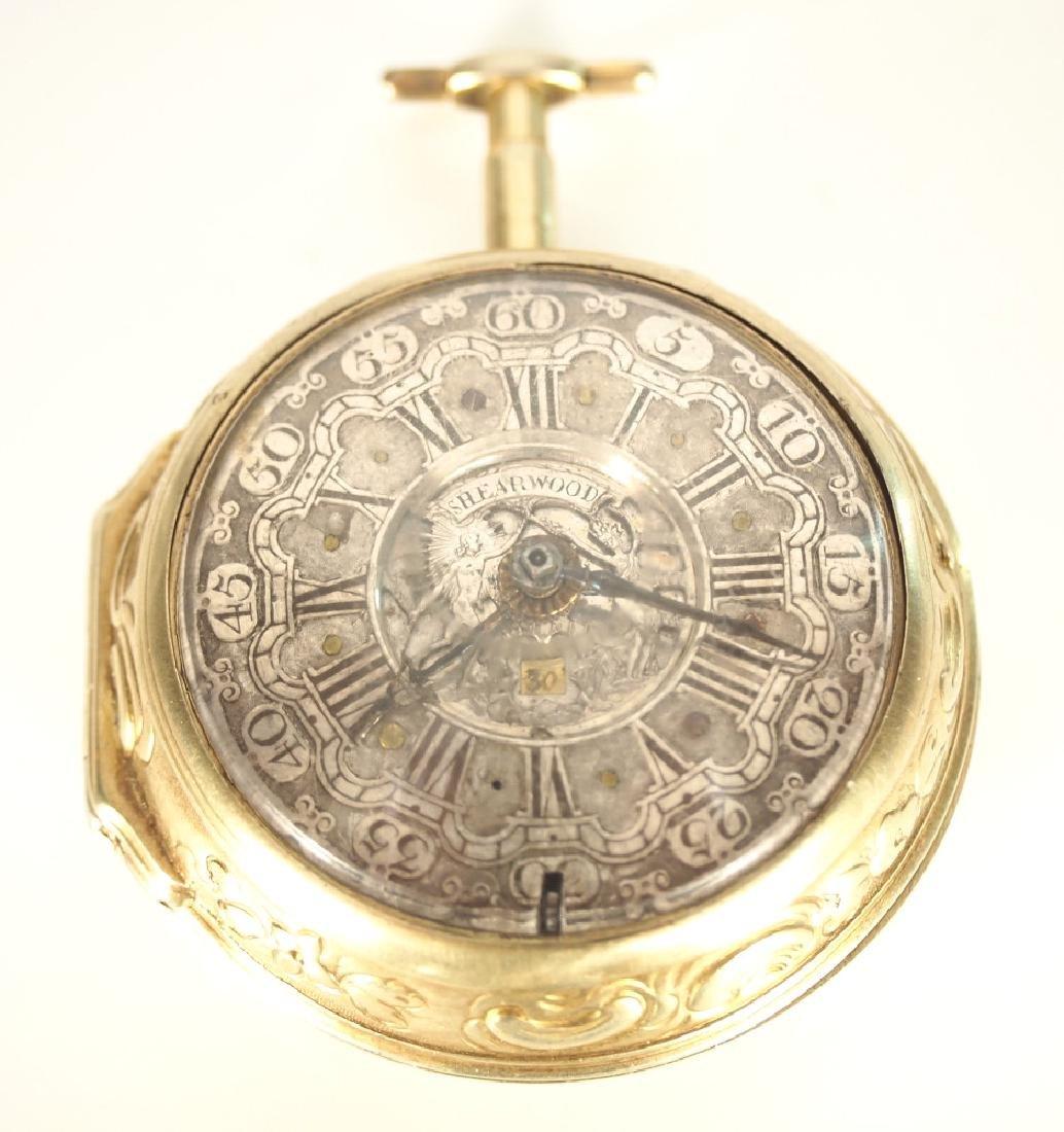 J. Shearwood Sterling Pair case pocket watch
