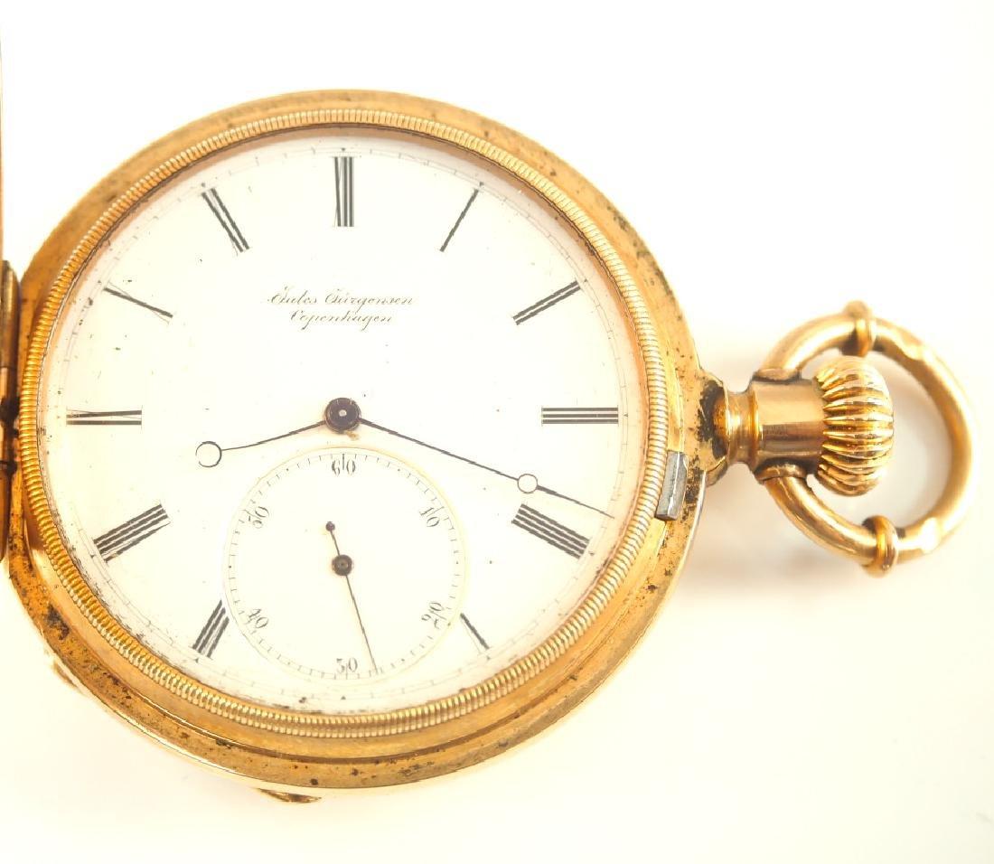 Jules Jurgensen 18 k Gold pocket watch