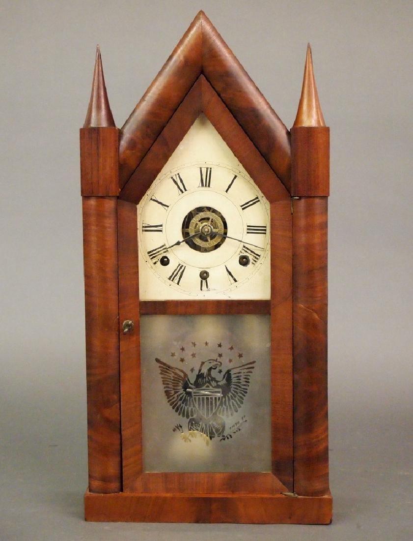 C Boardman triple fusee steeple clock