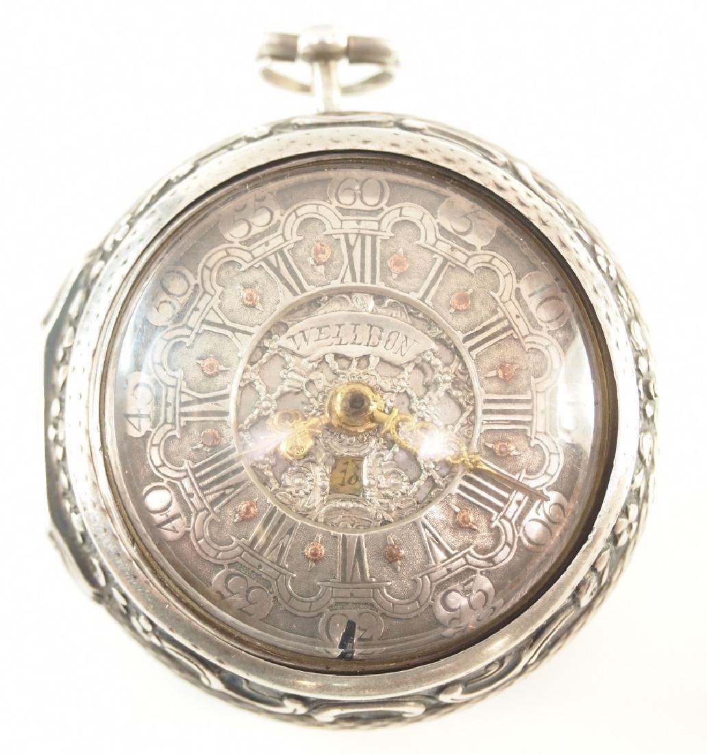 S. Weldon Sterling Pair case pocket watch