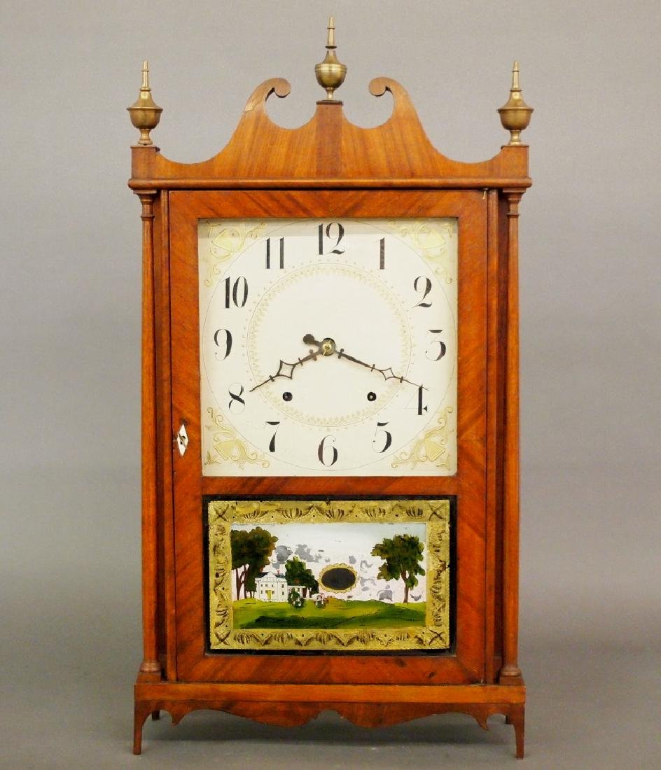 Ephraim Downes Pillar & scroll clock