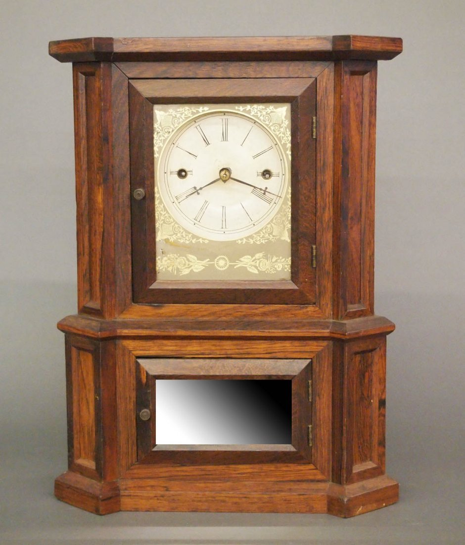 Atkins Mfg. Co. 30-day shelf clock