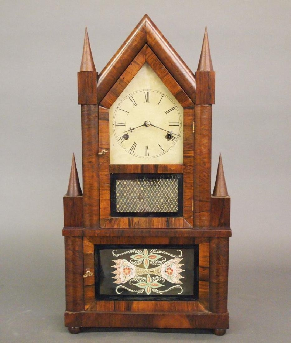 Birge & Fuller 30 hr wagon spring shelf clock