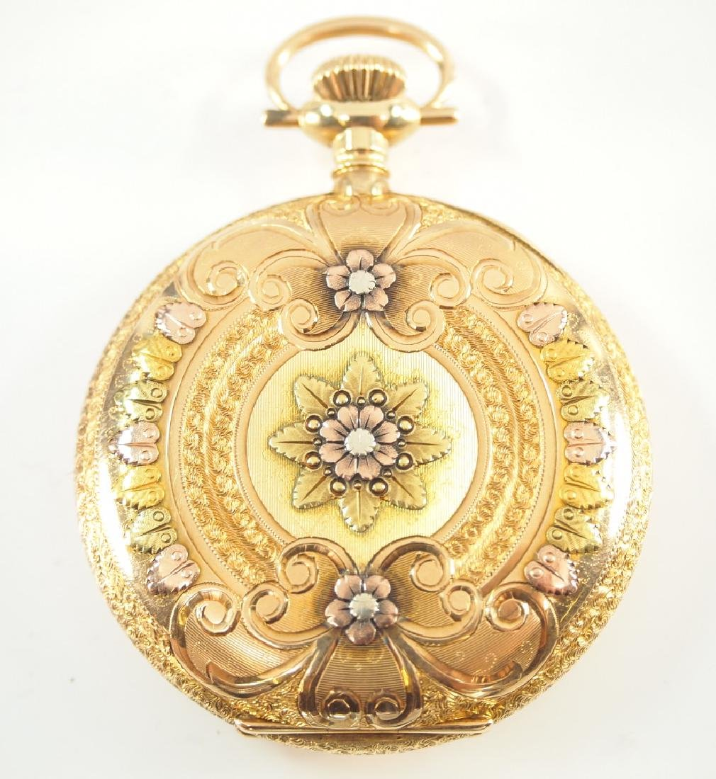 AWW C. 14 k multi Gold pocket watch