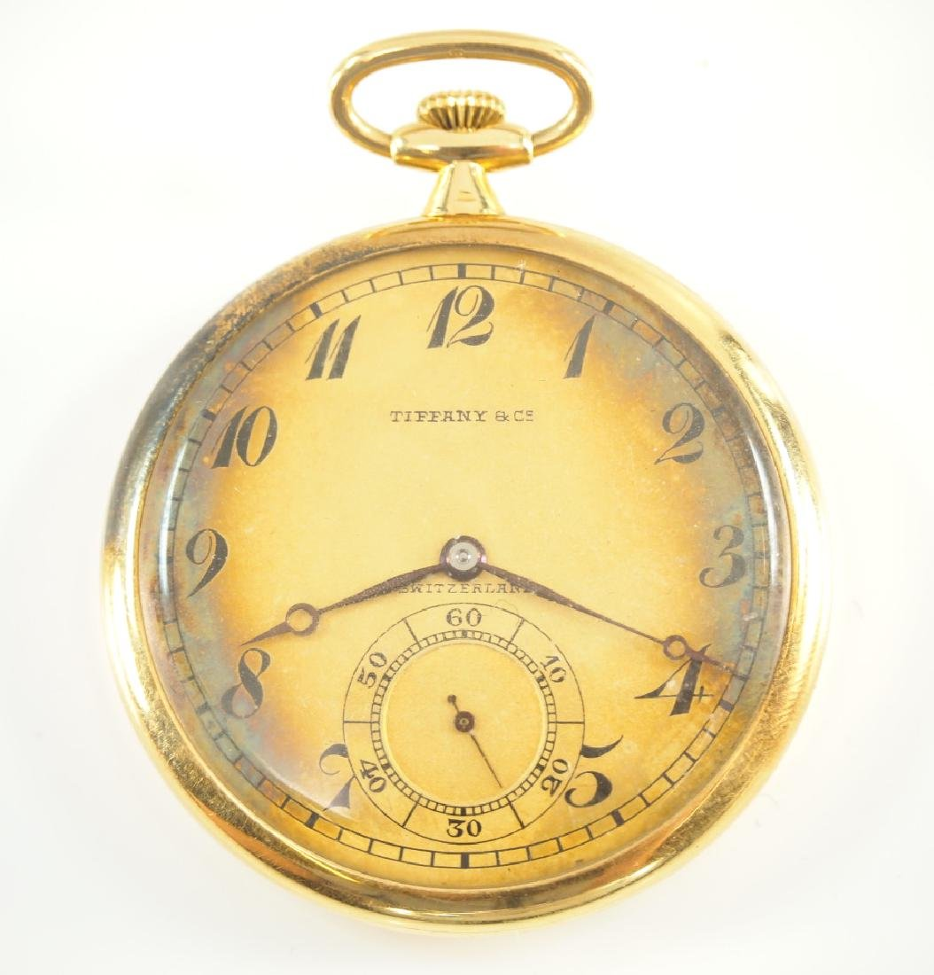 Agassiz/Tiffany 18 k Gold pocket watch