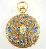 Reunaud & Bussi 18k gold pocket watch