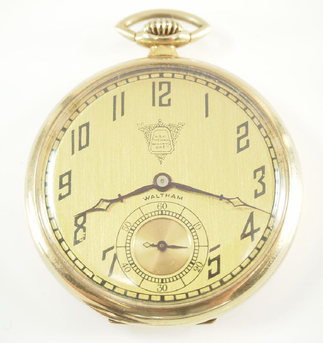"AWW Co. ""PacKard"" 14 k Gold pocket watch"