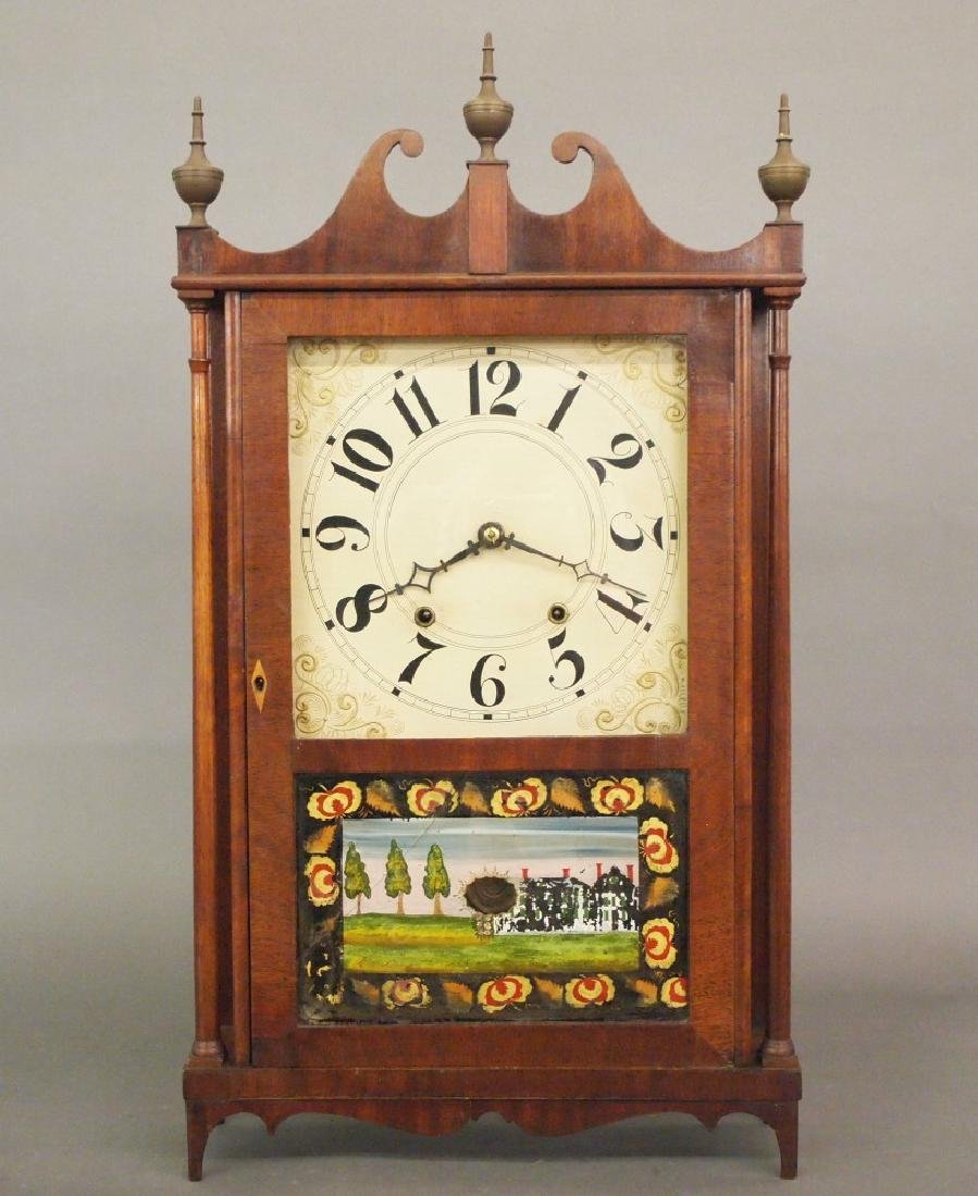Hopkins & Alfred Pillar & scroll clock