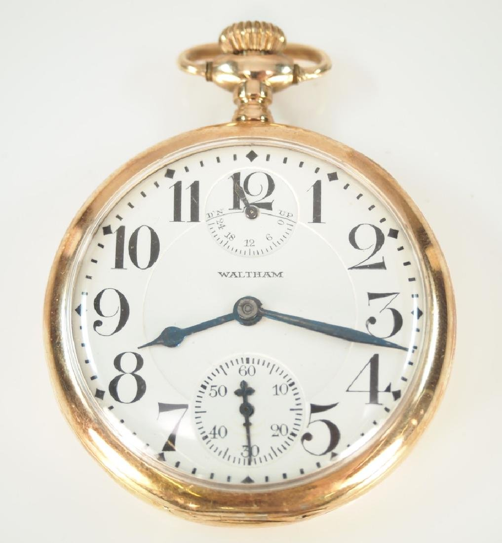 AWW Co. 14 k Vanguard Up/Down pocket watch