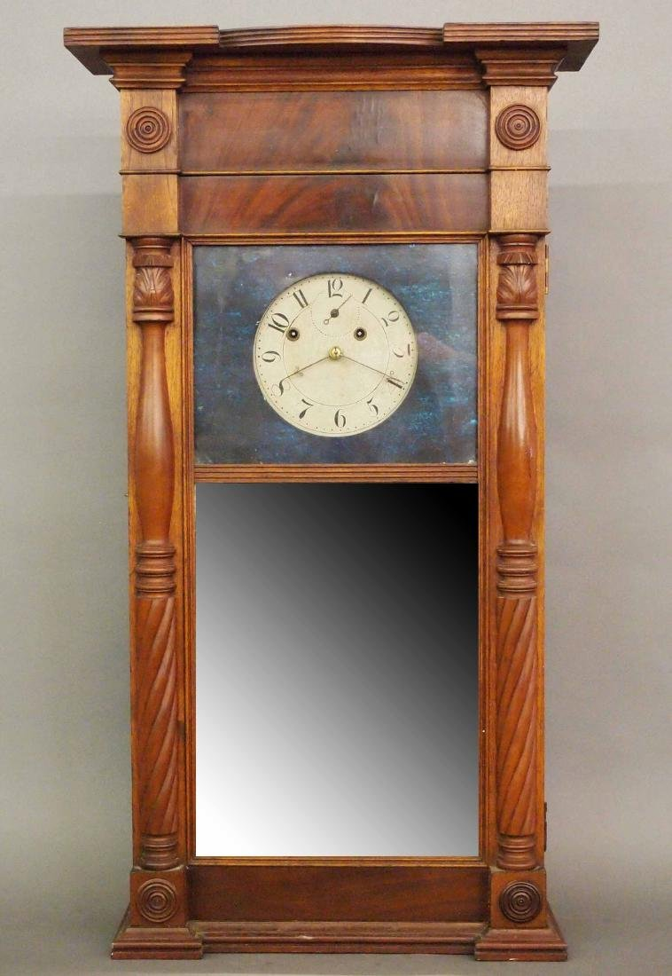 "Asa Munger ""Ironing Board"" shelf clock"