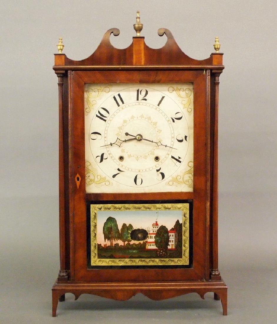 S Terry Pillar & scroll clock