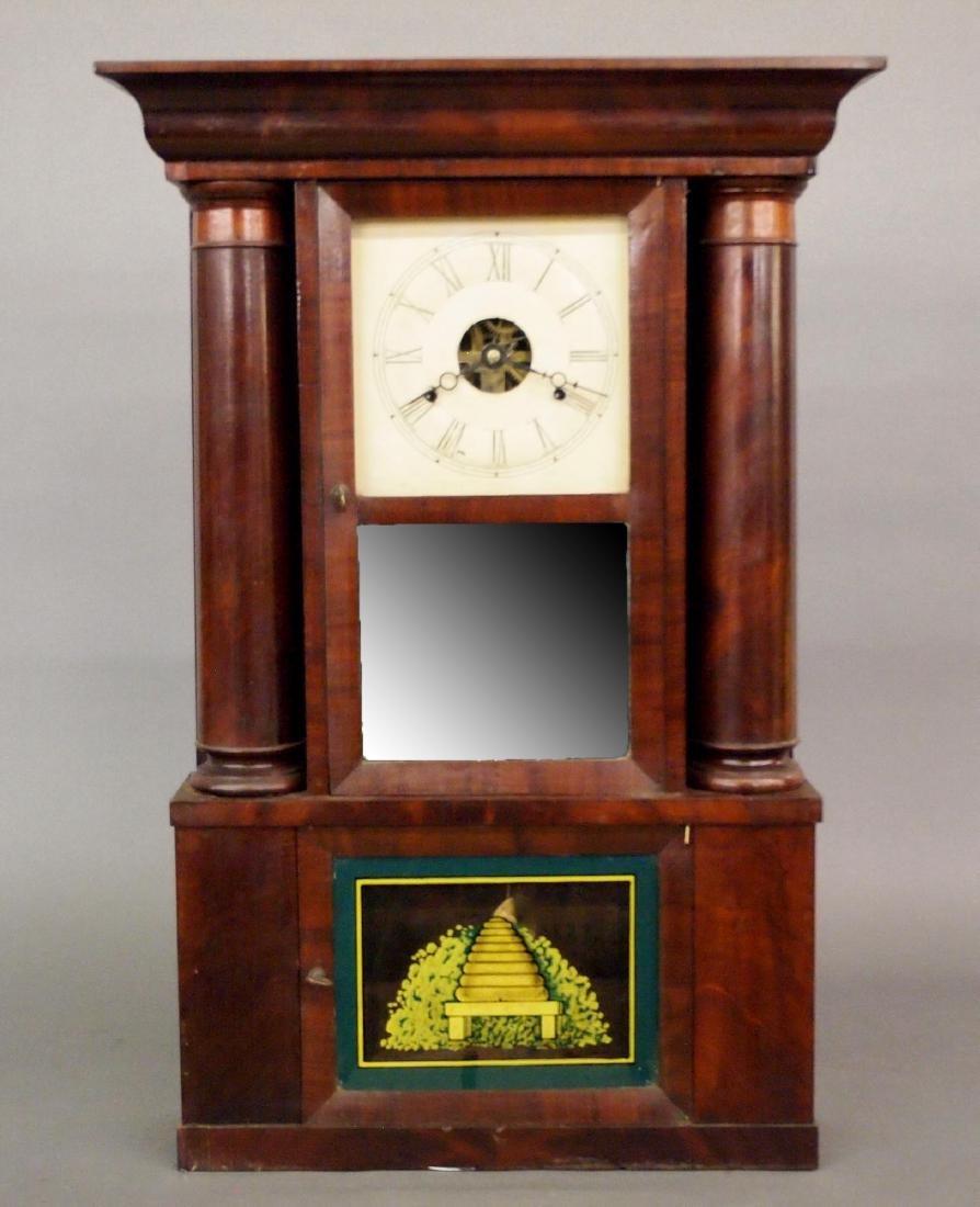 W. Gilbert Hollow column shelf clock