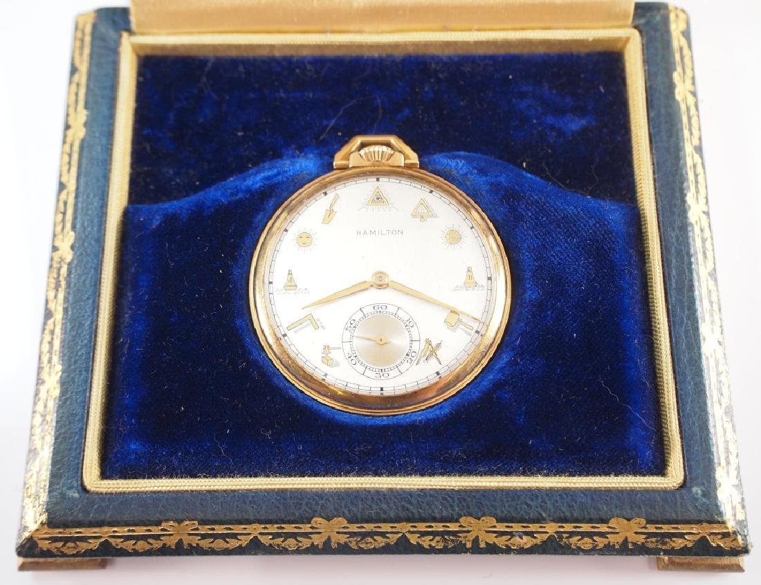 Hamilton 923 18 k Gold pocket watch