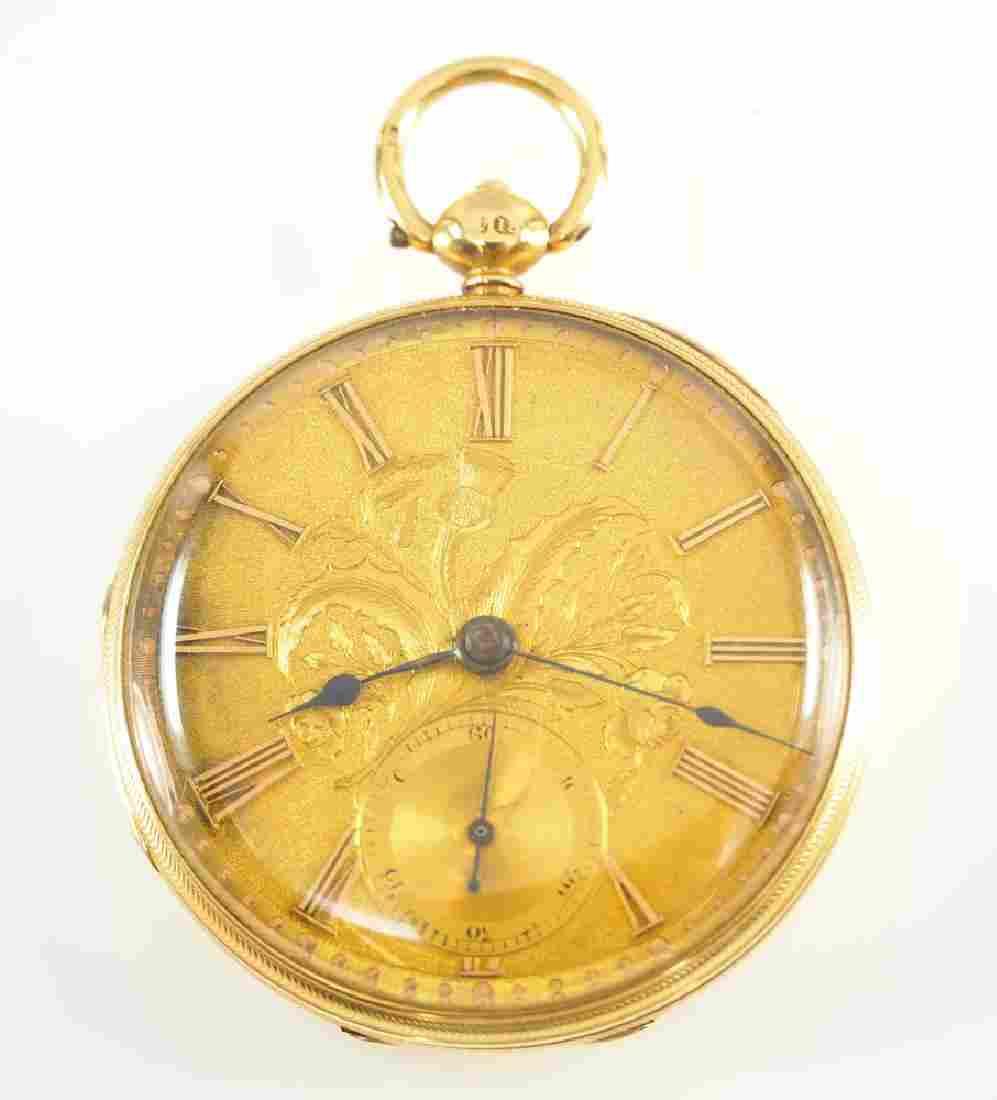 Jos. Fannon 18k gold pocket watch