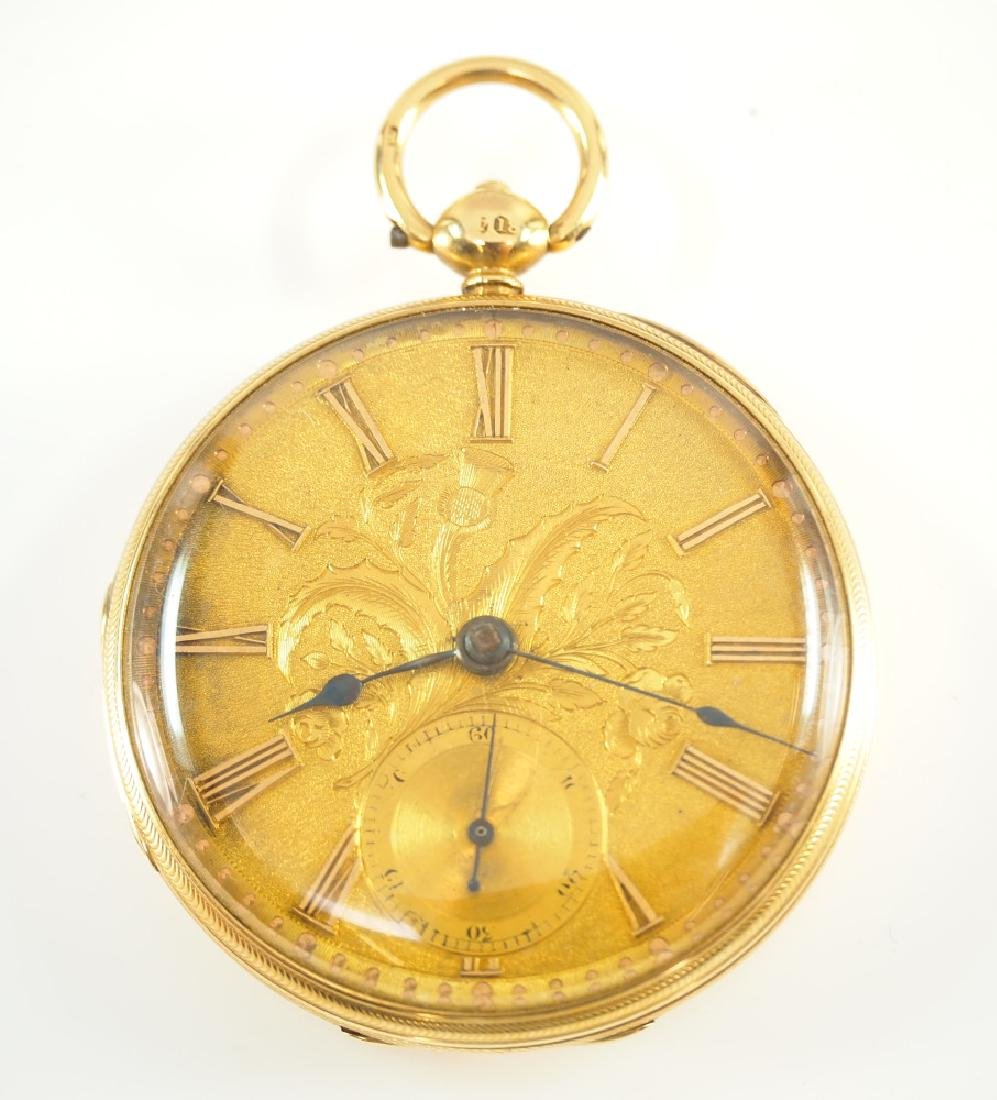 Jos. Fannon 18k gold pocket watch