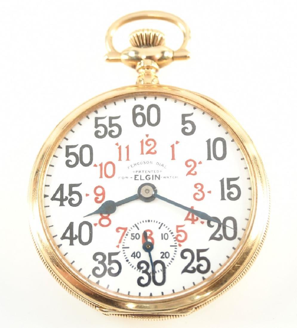 Elgin 14k Veritas Railroad watch w/Ferguson dial