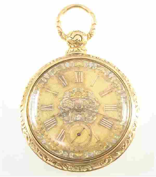 J. Moncas 18k Gold pocket watch