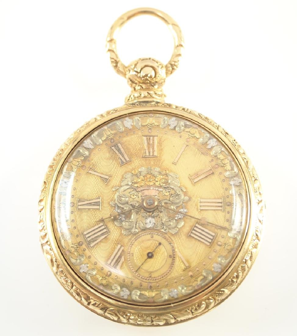 J. Moncas 18k Gold pocket watch