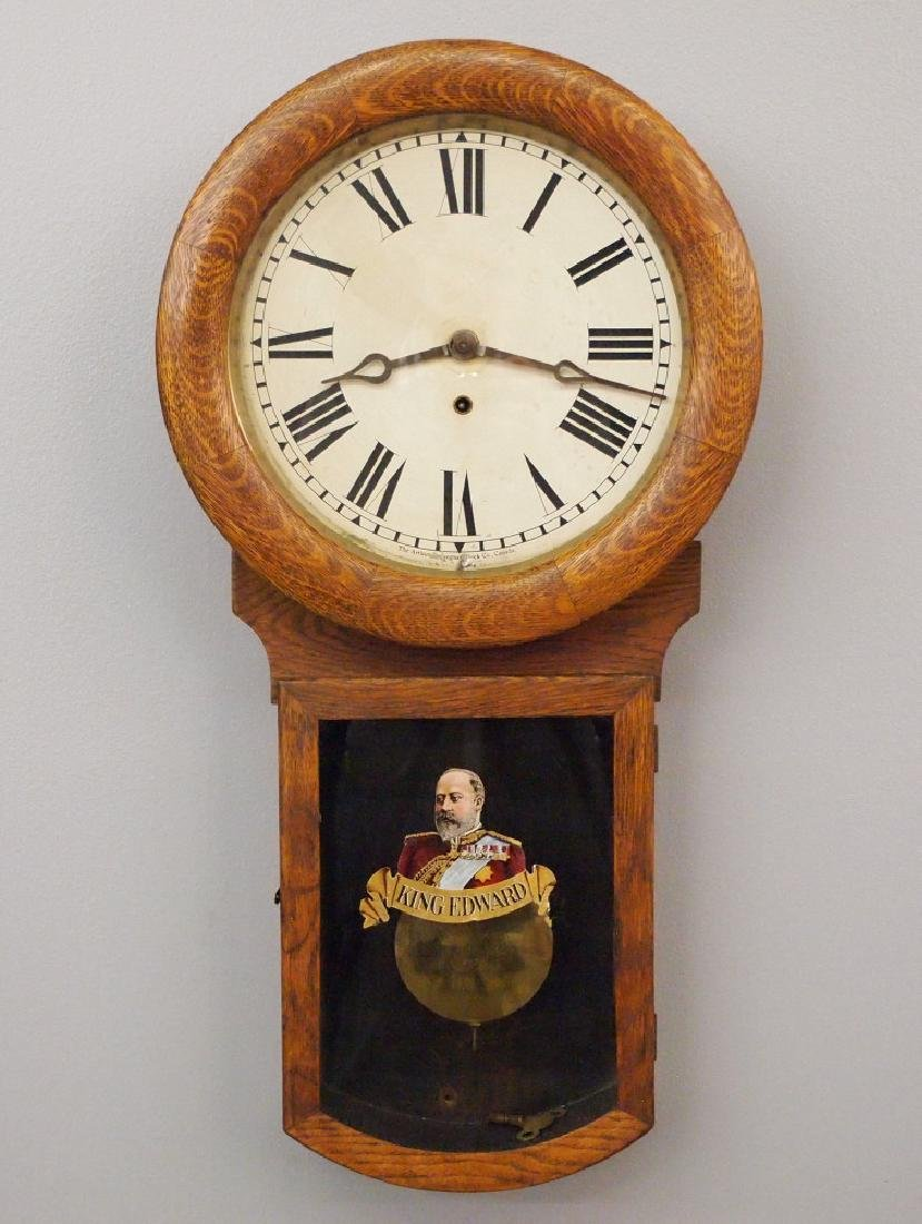 Pequegnat King Edward wall clock
