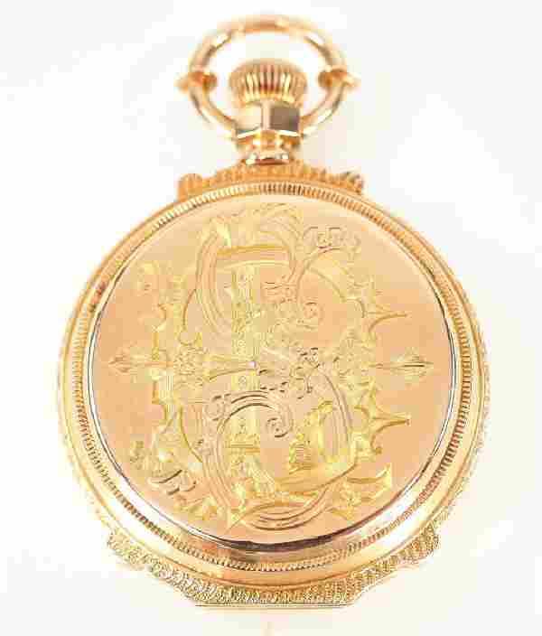 "Elgin ""Convertible"" 14 k Gold pocket watch"