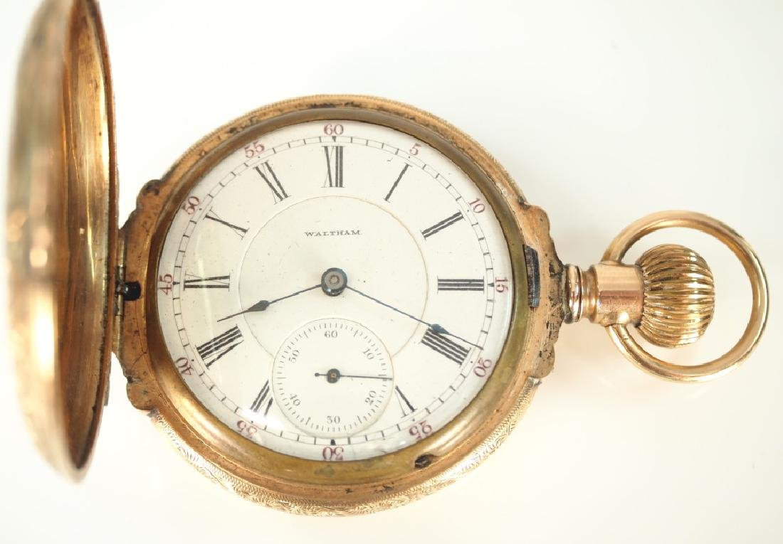 AWW Co. 14 k multi Gold box hinge pocket watch - 2