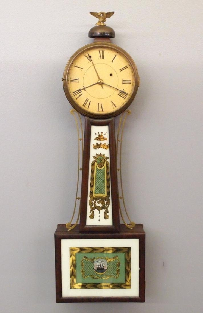 A. Willard Jr. Alarm Banjo clock
