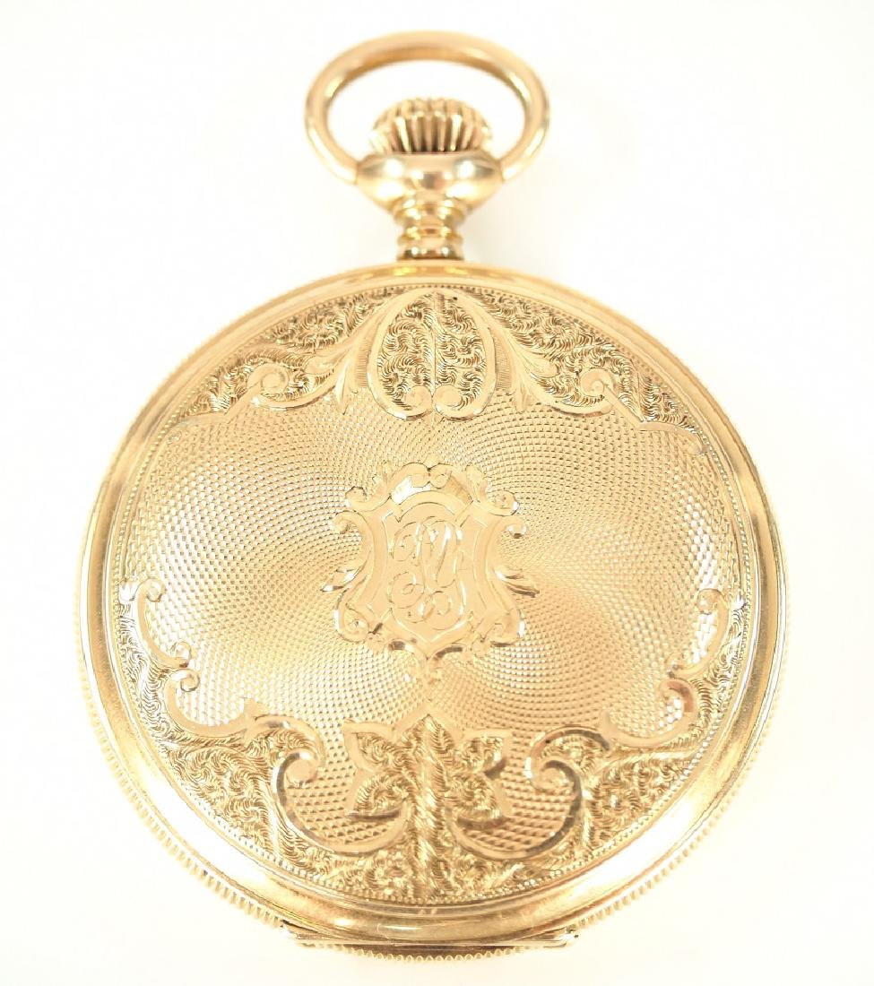 AWW Co. 14 k Gold pocket watch