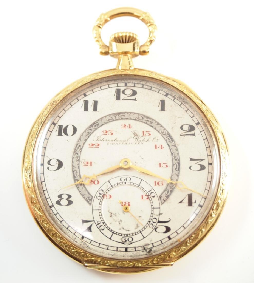 I. W. C. 18 k pocket watch