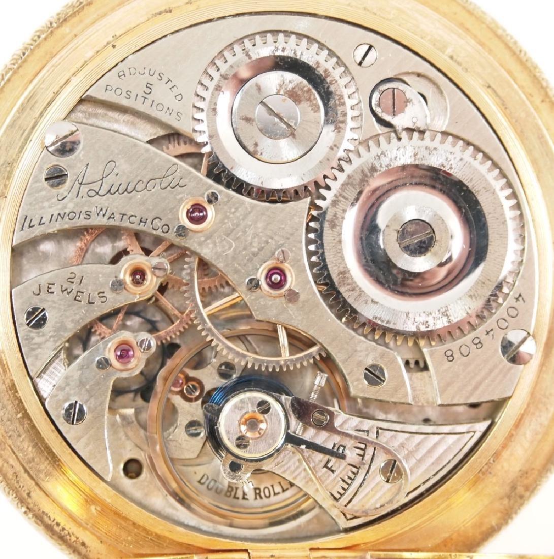 Illinois 14 k pocket watch - 3
