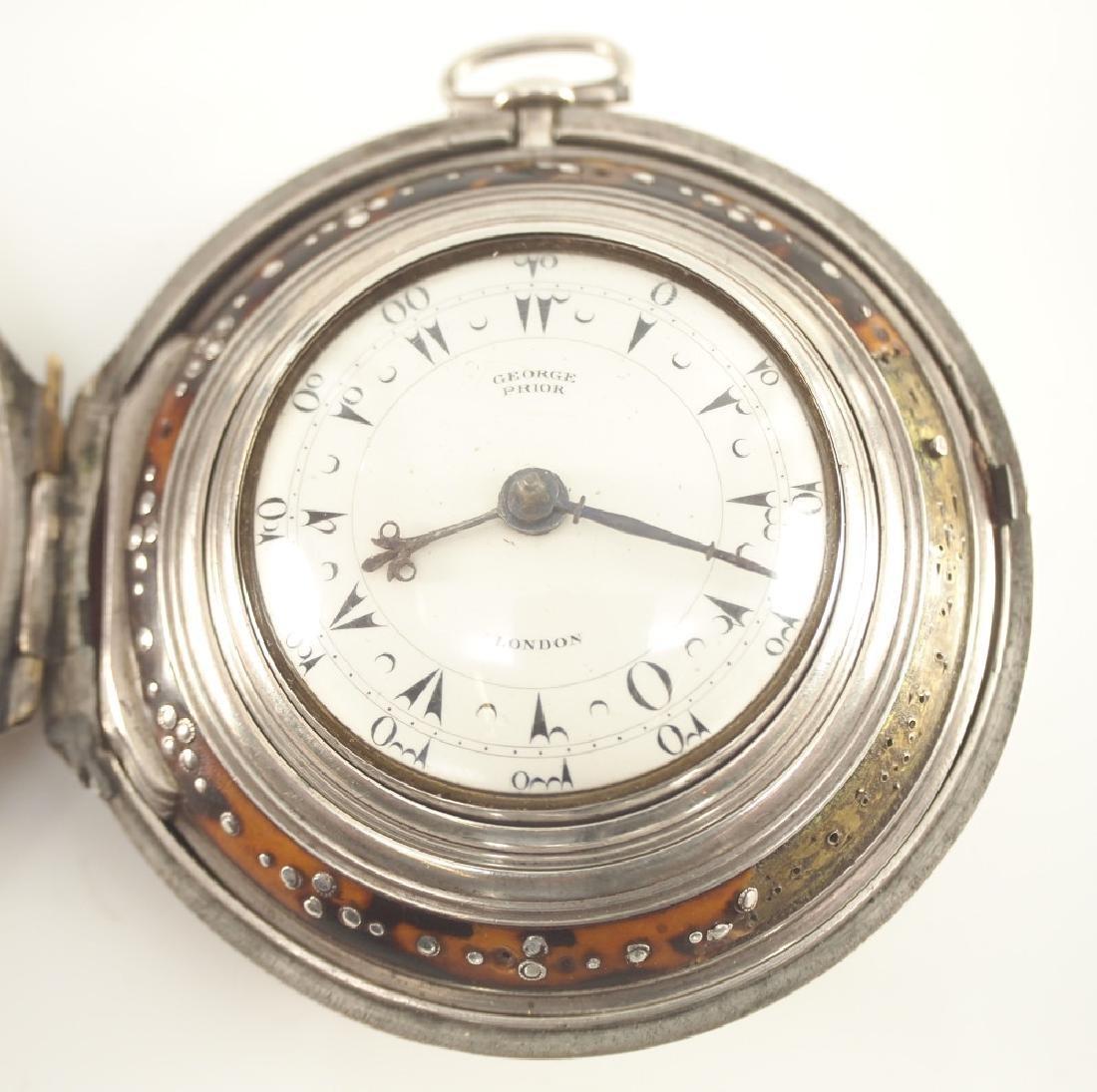 G. Prior triple case pocket watch
