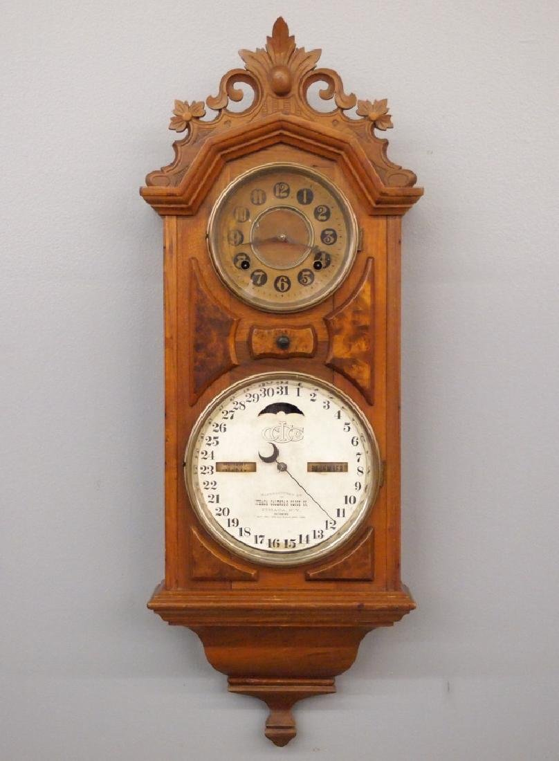 Ithaca No. 6 hanging library clock