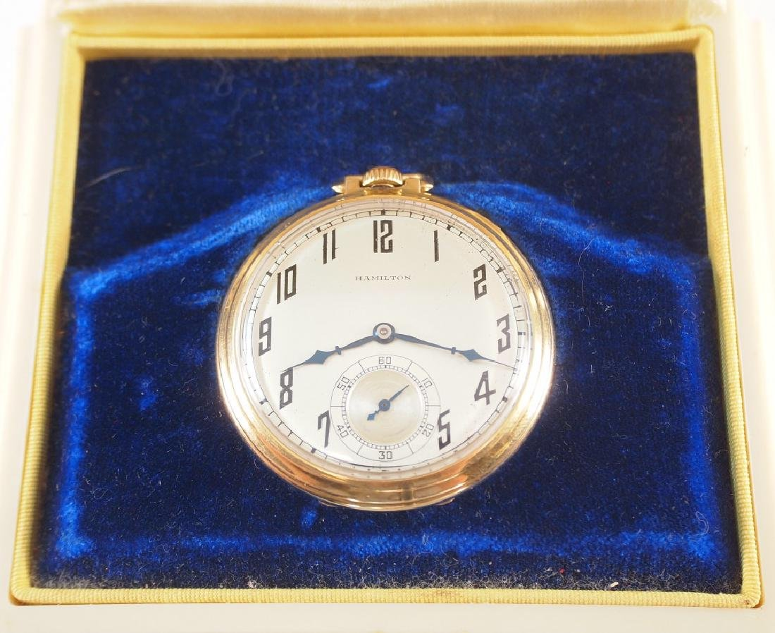Hamilton 14 k Gold pocket watch