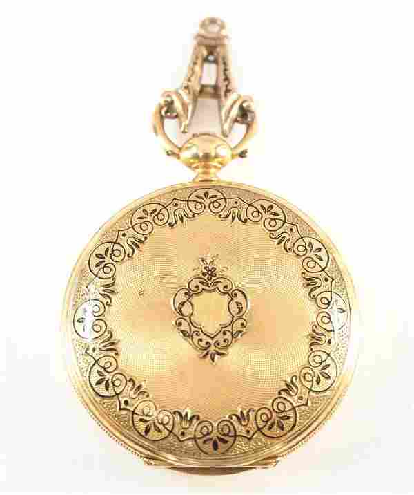 F. Sagne 18k gold pocket watch