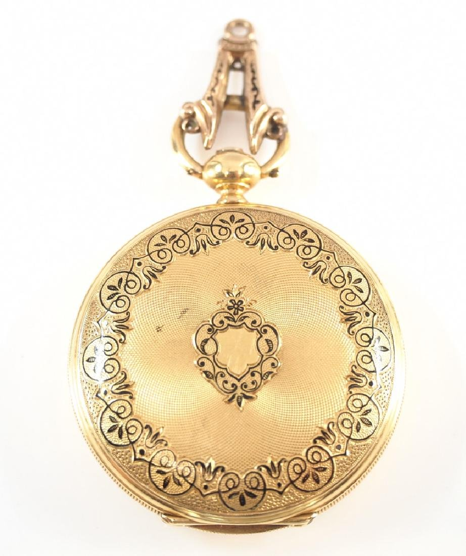 F. Sagne 18k gold pocket watch