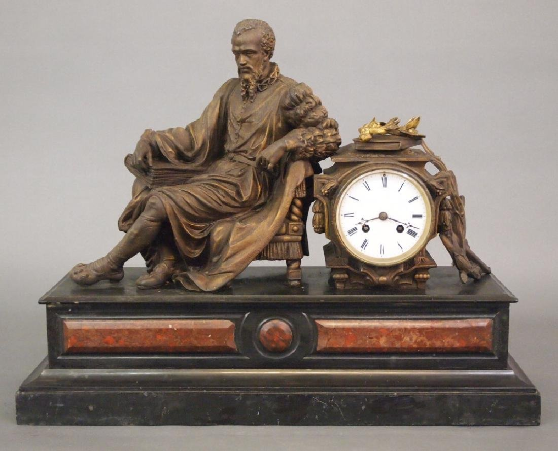 Japy Freres figural clock