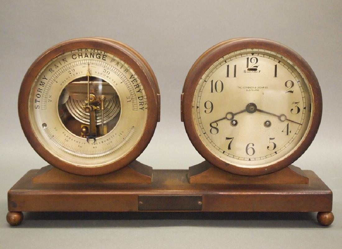 Desk clock/barometer