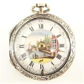 J. Tarts Sterling Pair case pocket watch