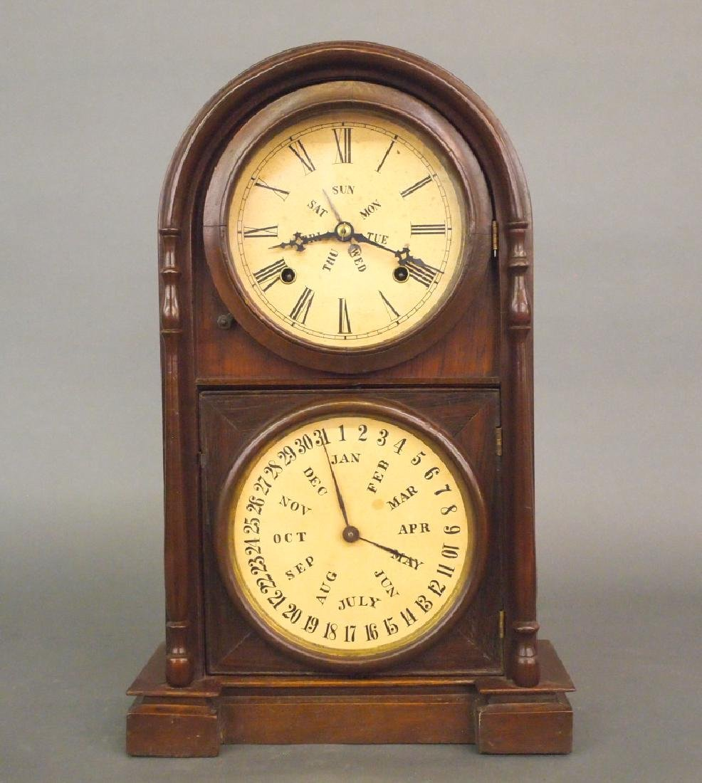 Welch Spring & Co. calendar shelf clock