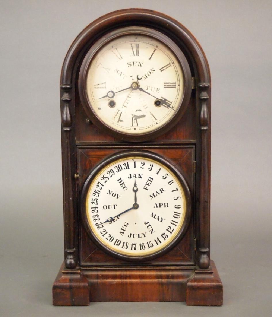 Welch Spring & Co. calendar shelf clock
