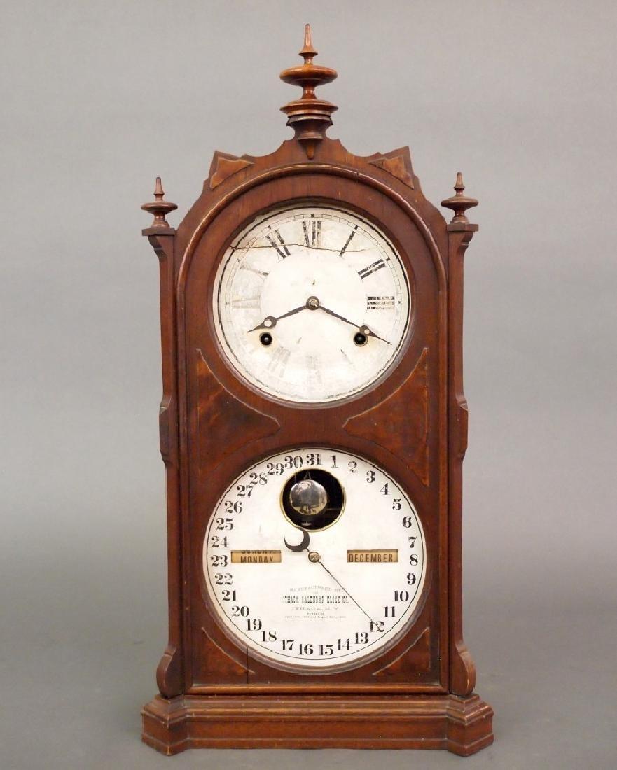 Ithaca No. 9 calendar clock