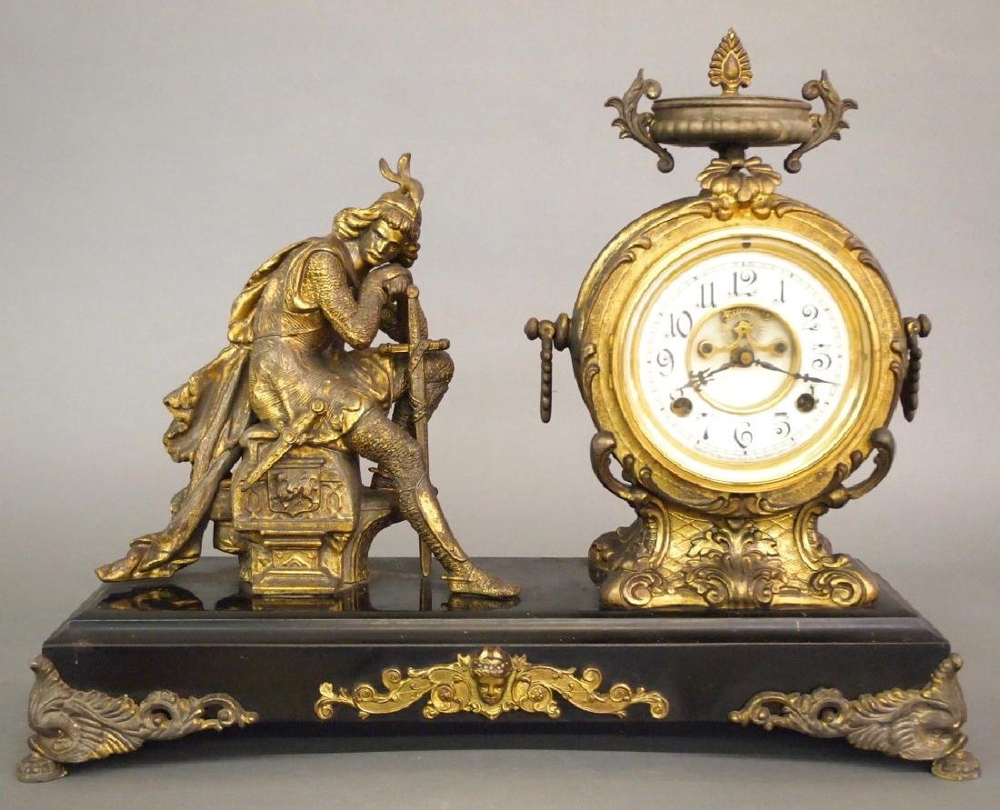 New Haven Ivanhoe figural clock